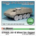 Новинка DEF Model: 1/35 Stryker/LAV-III Sagged Wheel set (for AFV Club/Trumpeter)