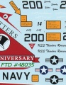 Обзор декали Fightertown Decals 1/48 Tophatters Anniversary