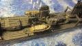 Диорама Tamiya 1/350 Yukikaze - Под бомбами