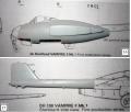Обзор Amodel 1/72 D.H.100 Vampire Mk.1