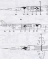 Обзор Lindberg 1/48 Douglas X-3 Stiletto
