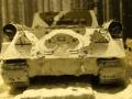 Звезда 1/35 ИСУ-152 в зимнем камуфляже в зимнем лесу зимой. 1945.