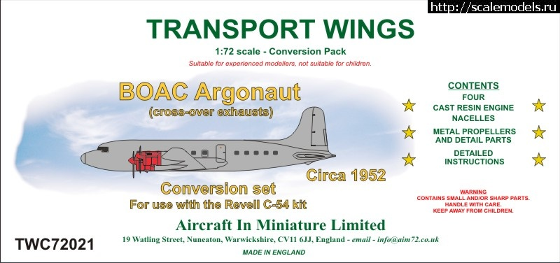 Конверсии AIM72 Transport wings 1/72 DC-4/C-54 Закрыть окно