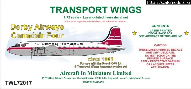 Конверсии AIM72 Transport wings 1/72 DC-4/C-54 Закрыть окно