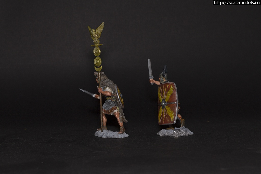 #1299226/ Римские центурион и аквилифер - 54 мм, Солдатики Публия Закрыть окно