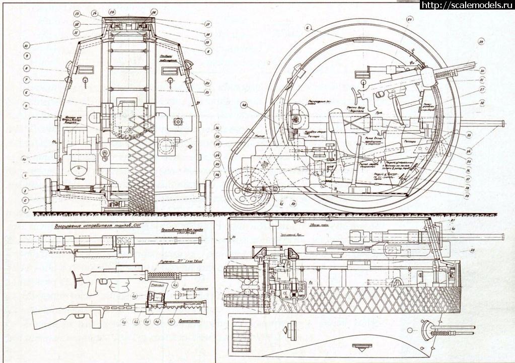 #1349753/ Истребитель танков  Гальперина - СИГ 1/72 Готово Закрыть окно
