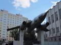 Самолёт Як-28Л на постаменте у Орджоникидзевского РВК в Уфе.