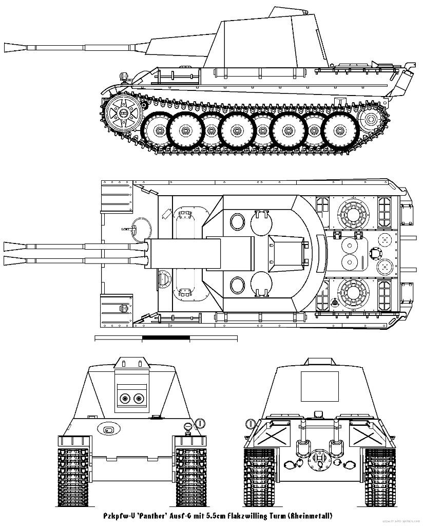 5,5 cm Flakpanzer mit PzKpfw V «Panther» Ausf G - ГОТОВО Закрыть окно
