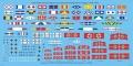 Обзор Rainbow 1/700 и 1/350 IJN signal flags (сигнальные флаги)