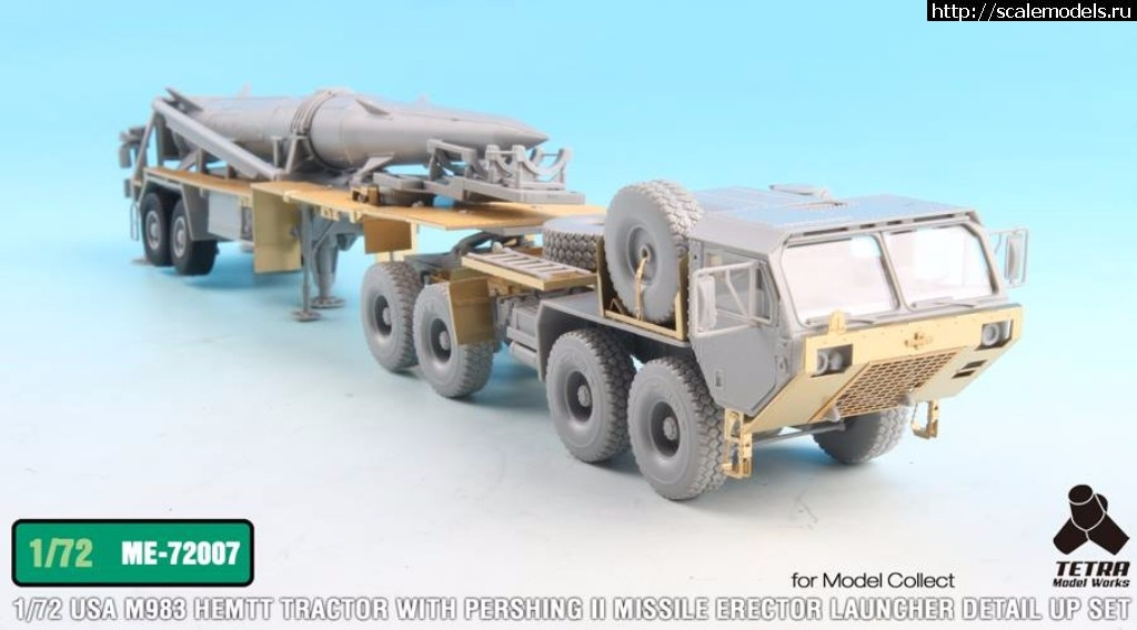 Анонс Tetra Model Works 1/72 USA M983 Tractor w/Pershing II Missile Erector Launcher Detail up set Закрыть окно