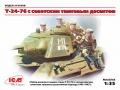ICM 1/35 T-34-76 с советским танковым десантом