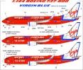 Анонс декаль UpRise 1/144 Boeing 737-800 Virgin Blue