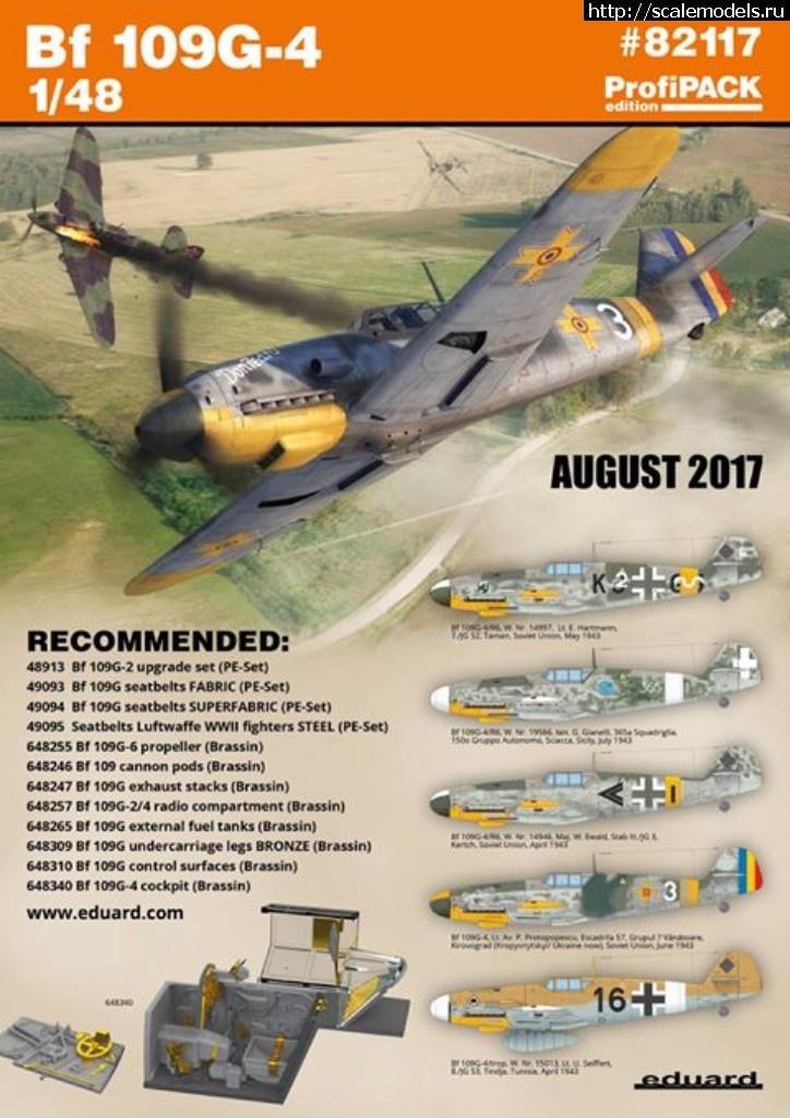 Анонс Eduard 1/48 Bf 109G-4 ProfiPACK Закрыть окно