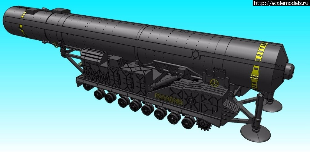 Анонс W-model 1/72 МБР РТ -20П SS-Х-15 Scrooge - 3d-рендеры Закрыть окно