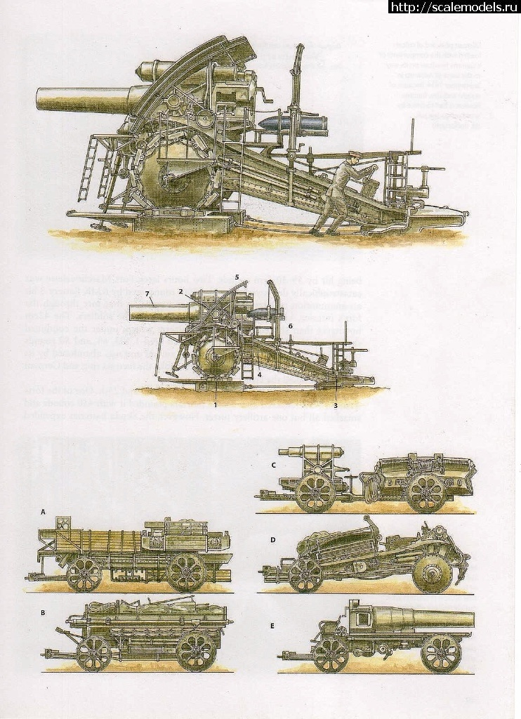 #1419962/ Krupp 420mm Big Bertha (Dicke Bertha) - Takom 2035 - 1:35 Закрыть окно