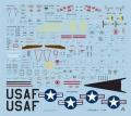 Правильный цвет надписей USAF и U.S. AIR FORCE