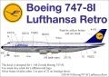 Декали UpRise: Lufthansa для модели Boeing 747-8I (Звезда 1:144)