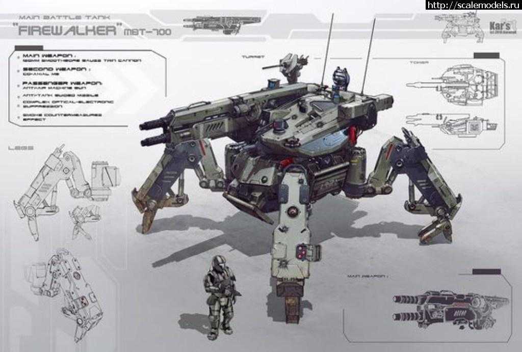 Шагающий танк MBT-700 Firewalker Закрыть окно