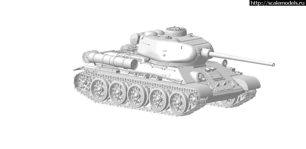 3D модель Т-34-85 от Звезды в масштабе 1/35 Закрыть окно