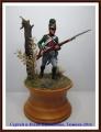 EK Castings 54mm Рядовой 6-го полка лёгкой пехоты (Бавария), 1806г