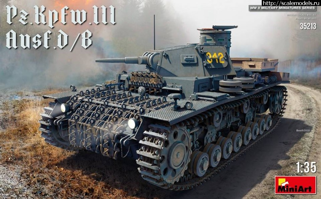 Анонс MiniArt 1/35 средний танк Pz.Kpfw.III Ausf. D/B Закрыть окно