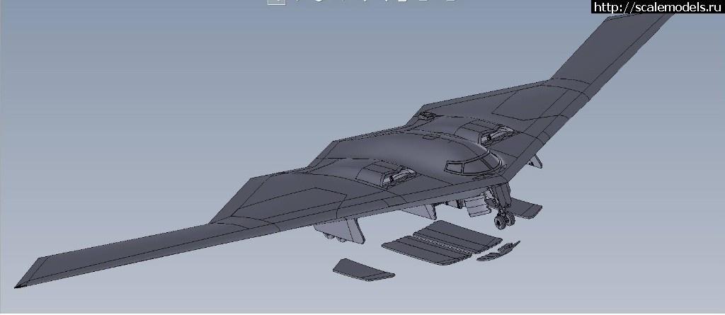 B-2 Spirit в масштабе 1/144 от AMP  Закрыть окно