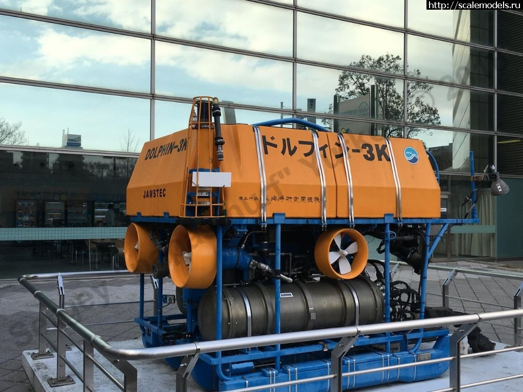 Walkaround глубоководный подводный аппарат Dolphin-3K, Nagoya City Science Museum, Nagoya, Japan Закрыть окно