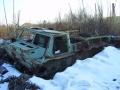 Walkaround остатки гусеничного транспортёра ГТ-СМ (ГАЗ-71), поселок Уктур, Хабаровский край, Россия