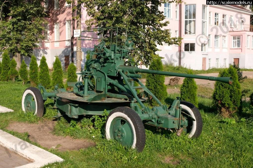 Walkaround 37-мм зенитная пушка образца 1939 г. (61-К), Бологое, Тверская область, Россия Закрыть окно