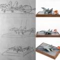 Звезда 1/72 МиГ-29 (9-13) посадка с парашютом