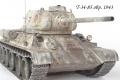 Звезда + Макет 1/35 T-34-85 обр. 1943