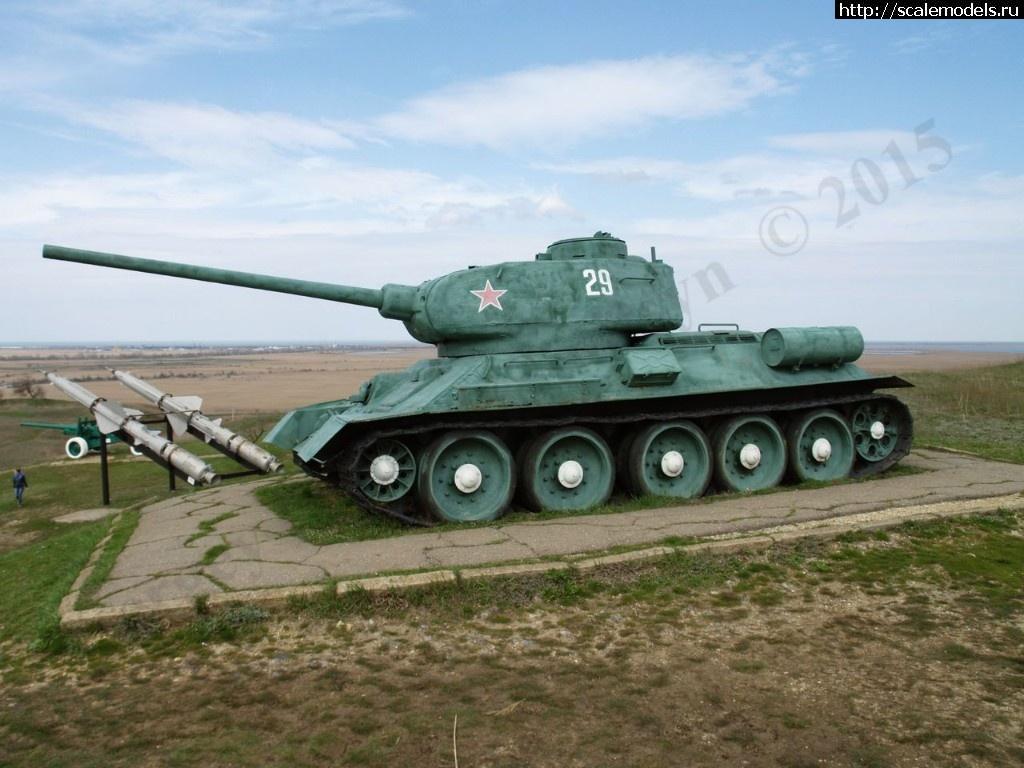Walkaround средний танк Т-34-85, Музей военной техники Военная горка, Темрюк, Россия Закрыть окно