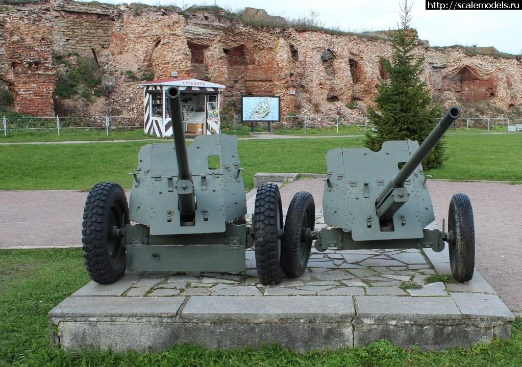 Walkarounds две 45-мм противотанковые пушки обр. 1942 г. М-42, Крепость Орешек, Шлиссельбург, Россия Закрыть окно