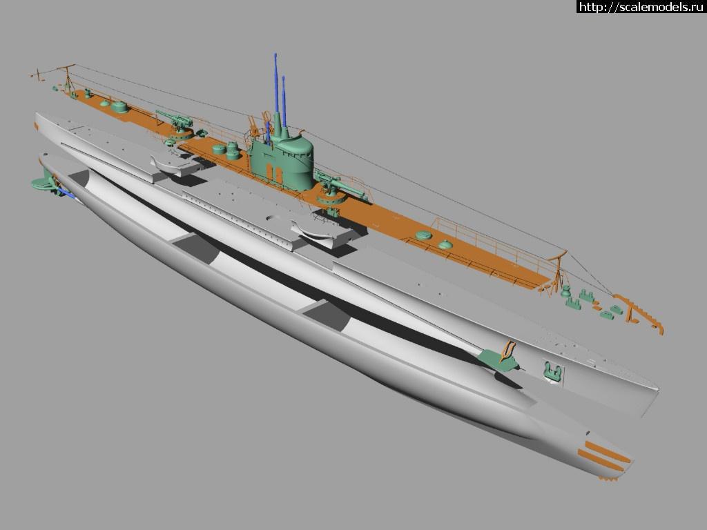 U-boat lab 1/350 Italian submarines Calvi, Finci and Tazzoli...  Закрыть окно
