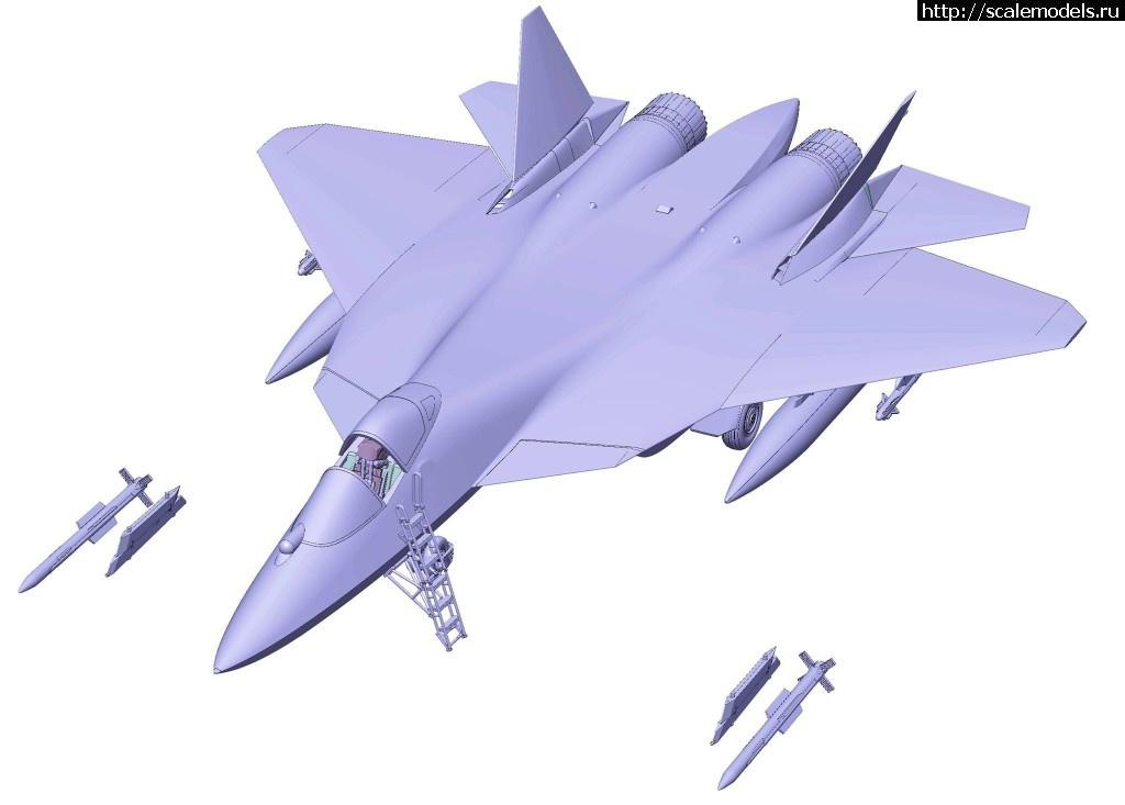 Анонс Звезда 1/72 Су-57 - 3D-рендеры Закрыть окно