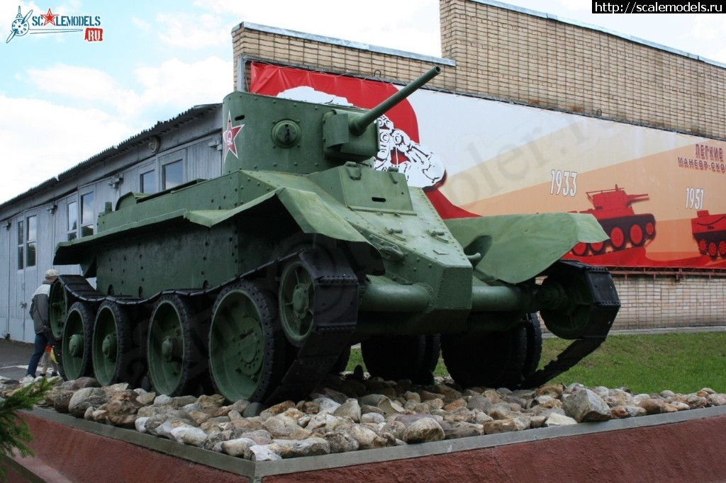 Walkaround лёгкий колёсно-гусеничный танк БТ-2, музей бронетанкового вооружения и техники, Кубинка Закрыть окно