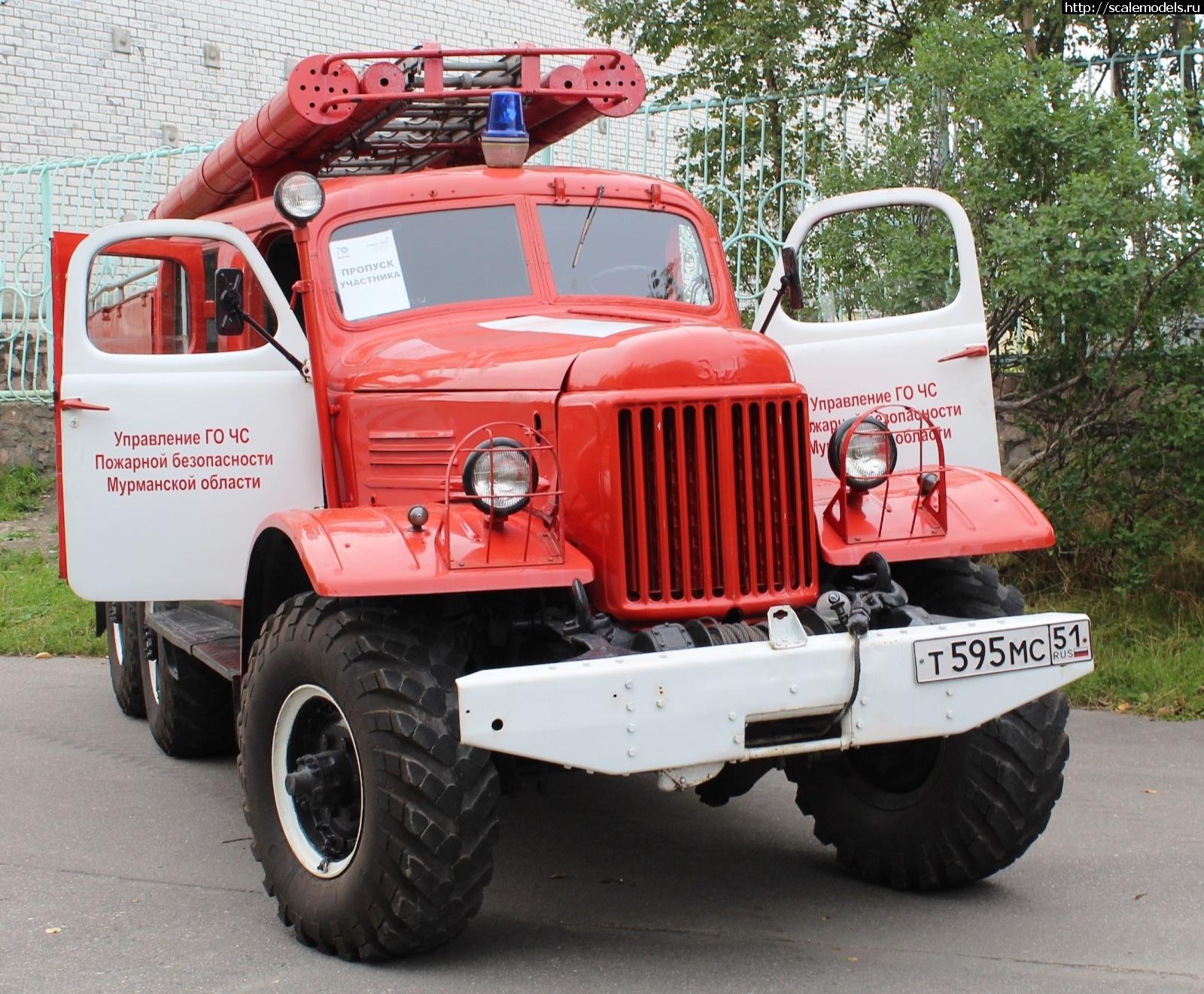 Walkaround пожарная автоцистерна ПМЗ-27 на базе ЗиЛ-157, Оленегорск, Мурманская область, Россия Закрыть окно