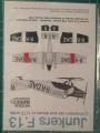 Обзор Master-X набора декалей и деталей из смолы на 1/72 Junkers F-13