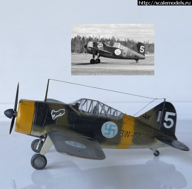 Re: Hasegawa 1/72 Brewster B-239 - Финский Буффало/ Hasegawa 1/72 Brewster B-239 - Финск...(#14394) - обсуждение Закрыть окно