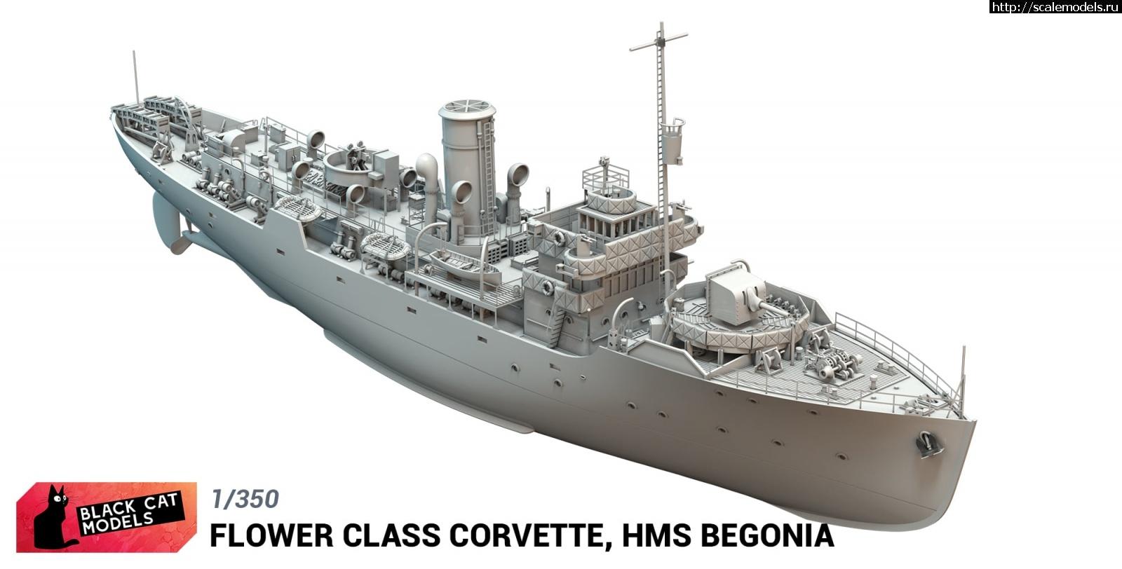 Анонс Black Cat Models 1/350 корвет HMS Begonia типа Flower Закрыть окно