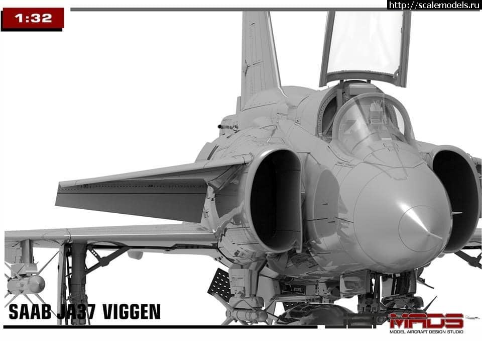 Анонс Jet Mads 1/32 SAAB JA37 Viggen - 3D-рендеры Закрыть окно