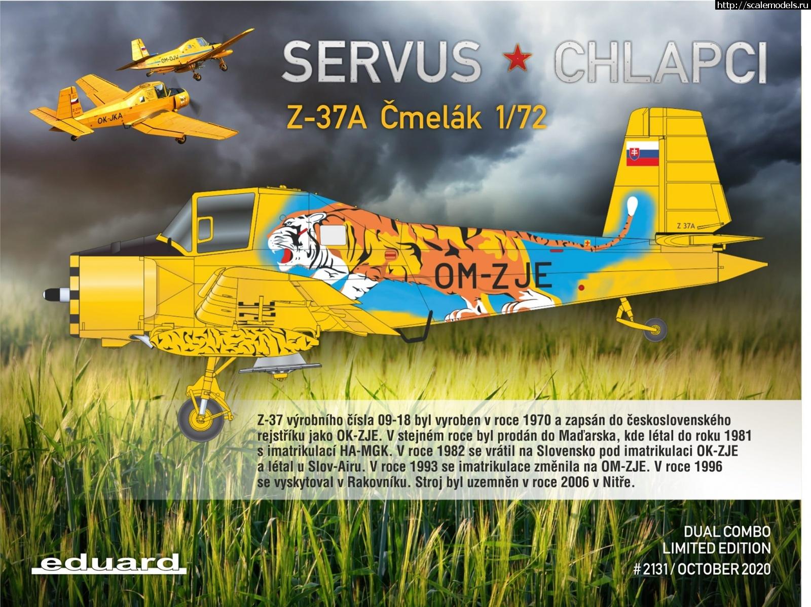 Анонс Servus chlapci (Eduard) 1/72 Zlin Z-37A Cmelak - Dual Combo Закрыть окно