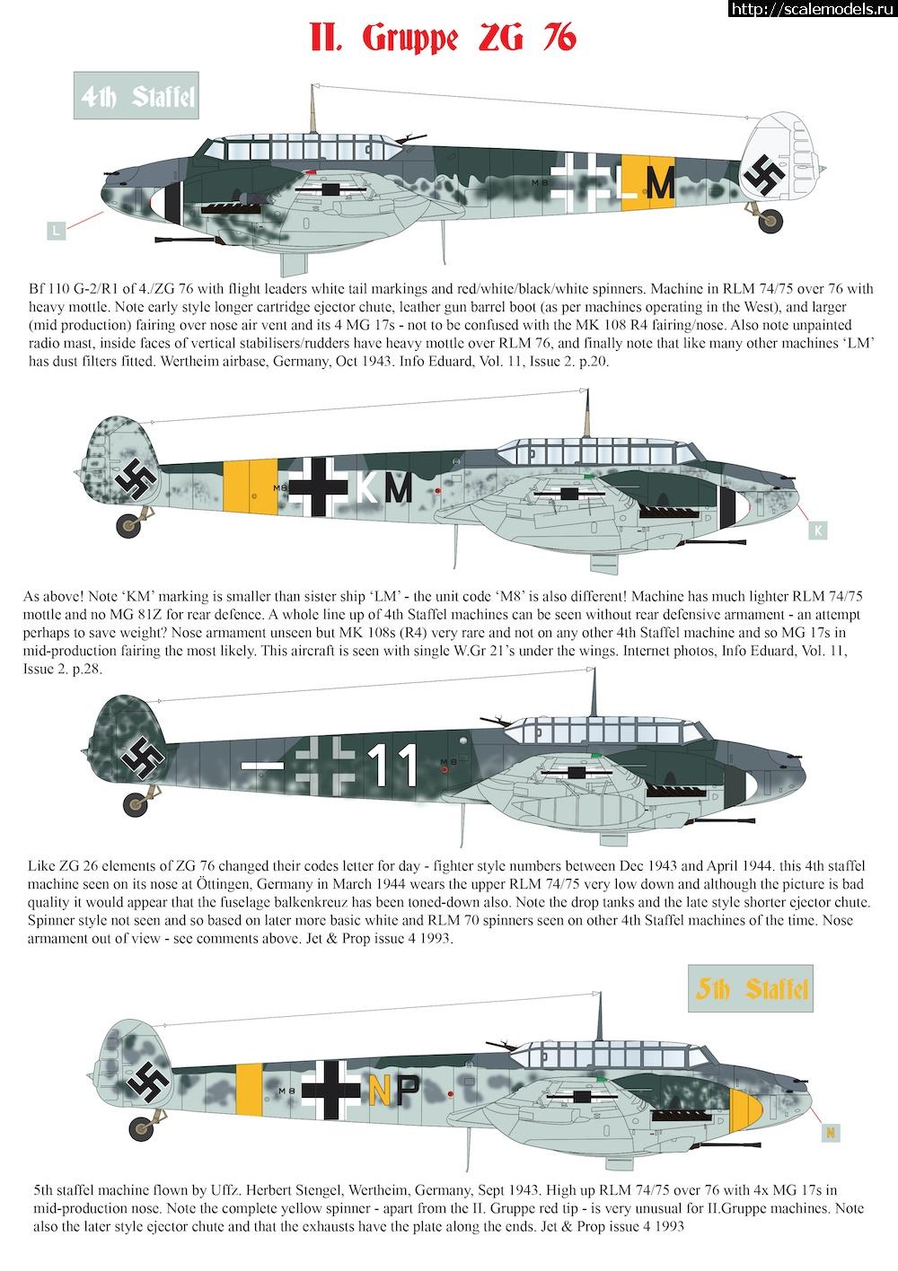 Анонс декалей AIMS Models 1/72,1/48 Bf 110 G-2/R1 Закрыть окно