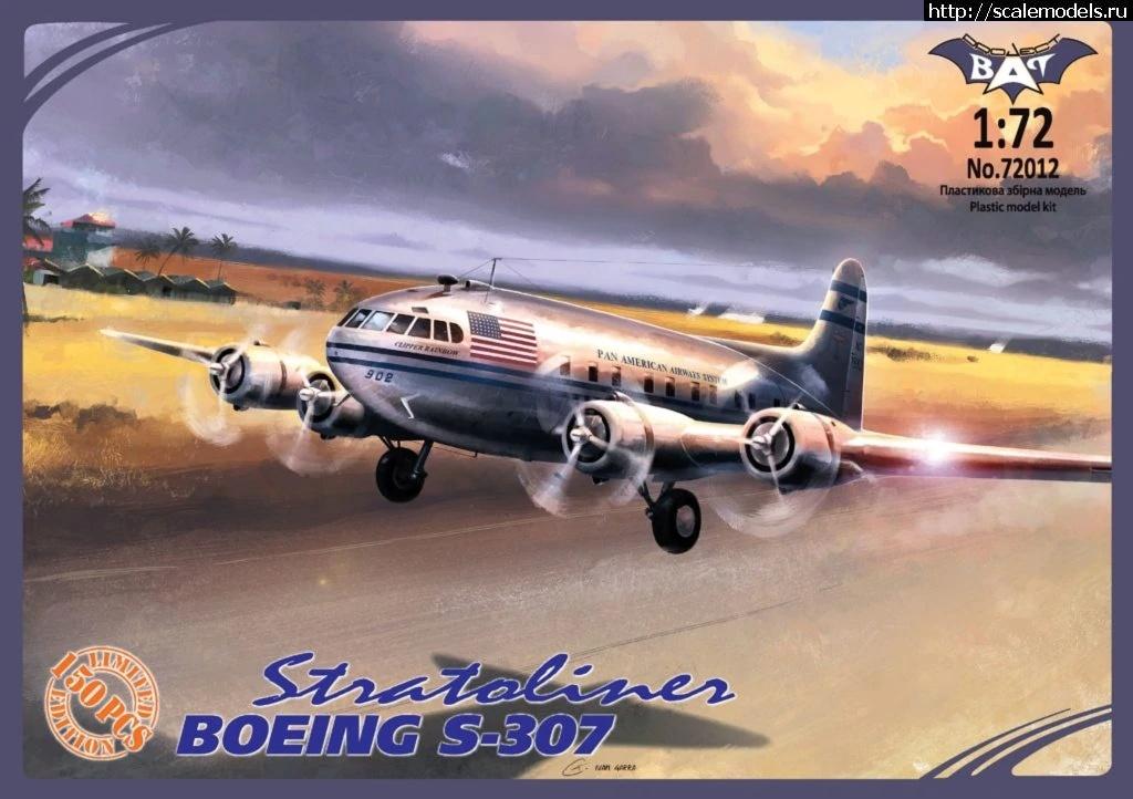 Анонс Bat Project 1/72 Boeing 307/SB 307B Stratoliner Закрыть окно