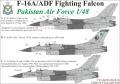 Декали UpRise: F-16 PAF (Руцкой киллер); Bf.109F/G; L-39 Breitling