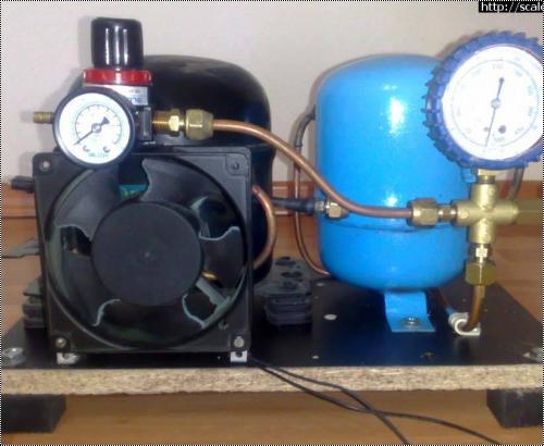 Как сделать с холодильного компрессора компрессор для 834