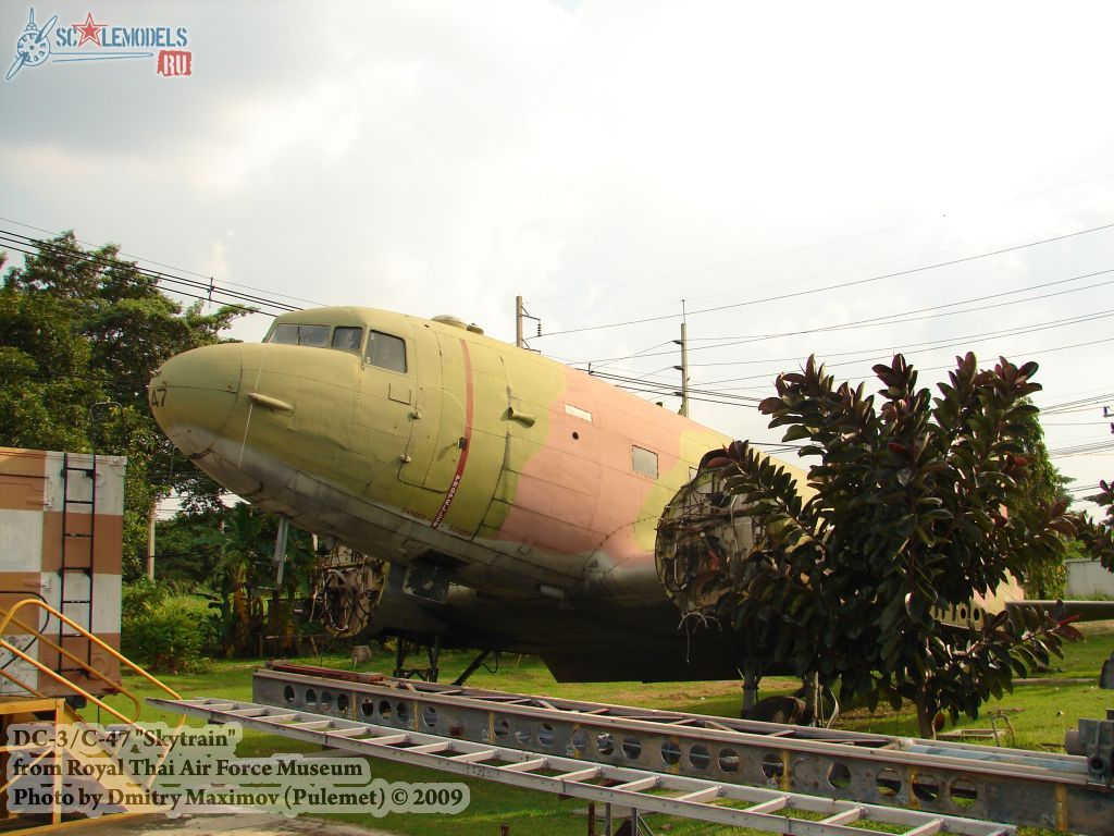 DC-3/C-47 Skytrain (Royal Thai Airforce Museum) : w_dc3_thai : 21614