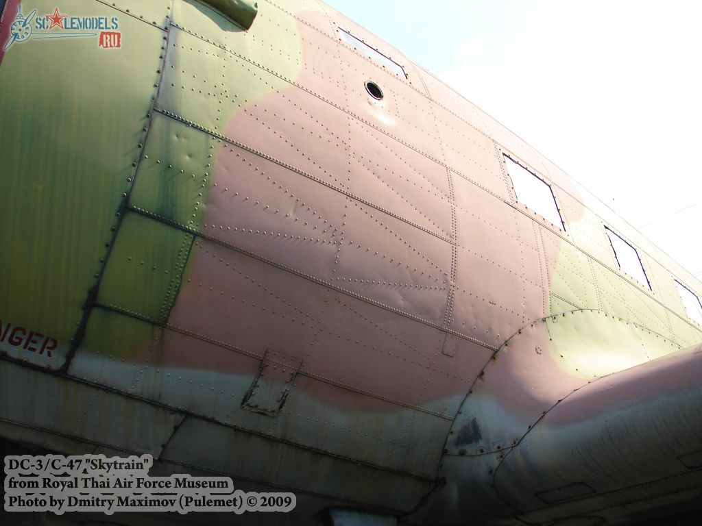 DC-3/C-47 Skytrain (Royal Thai Airforce Museum) : w_dc3_thai : 21635