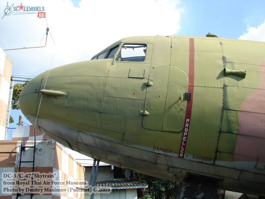 DC-3/C-47 Skytrain (Royal Thai Airforce Museum) : w_dc3_thai : 21646